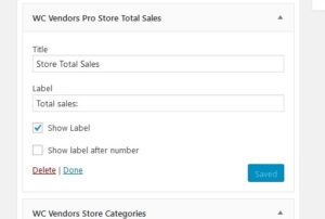 WC Vendors Pro Store Sales