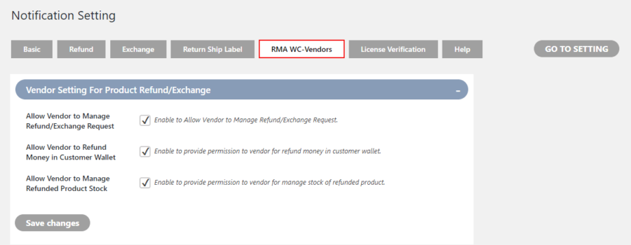 WooCommerce RMA For WC Vendors