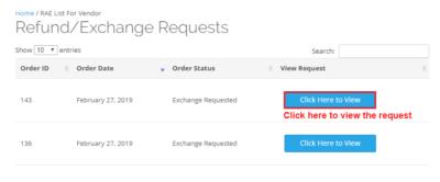 refund exchange requests