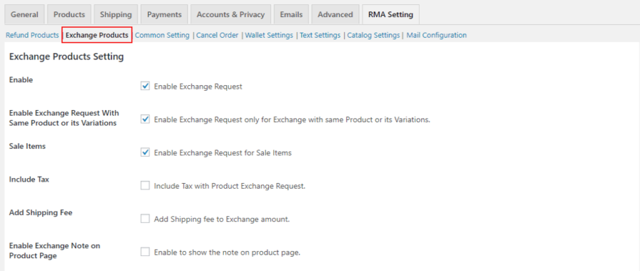 exchange products