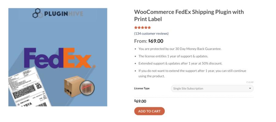 WooCommerce FedEx shipping plugin