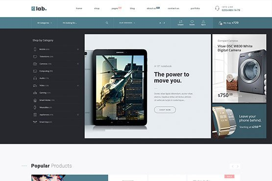 WooCommerce Multi Vendor Marketplace & Electronics Store WordPress Theme